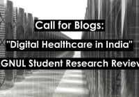 Call for Blogs: Digital Healthcare in India by RGNUL (RSRR)
