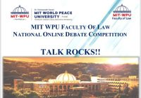 MIT-WPU National Online Debate Competition