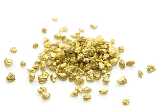 a nice mound of gold nuggets.