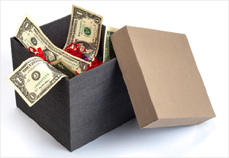 Gift return cash