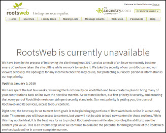 Rootsweb access