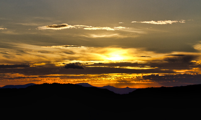 Mt Wellington sunset