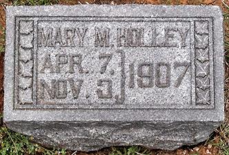 Mary Holley marker