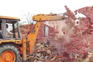 demolition of unauthorised constructions