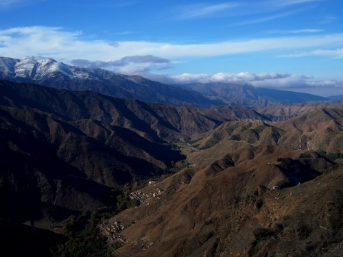 Beautiful view on the High Atlas mountains in Morocco