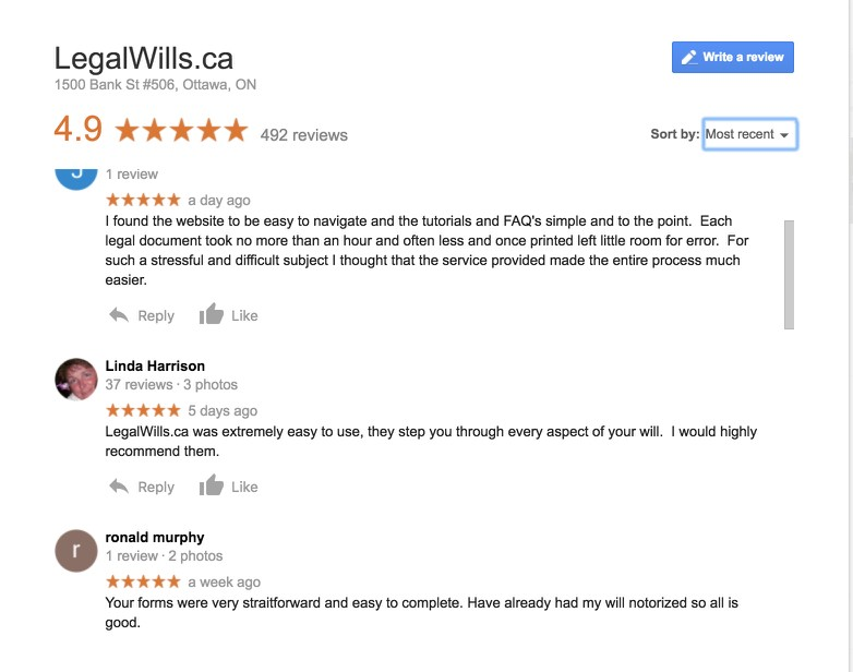 LegalWills.ca reviews. Our Will writing service is made ...
