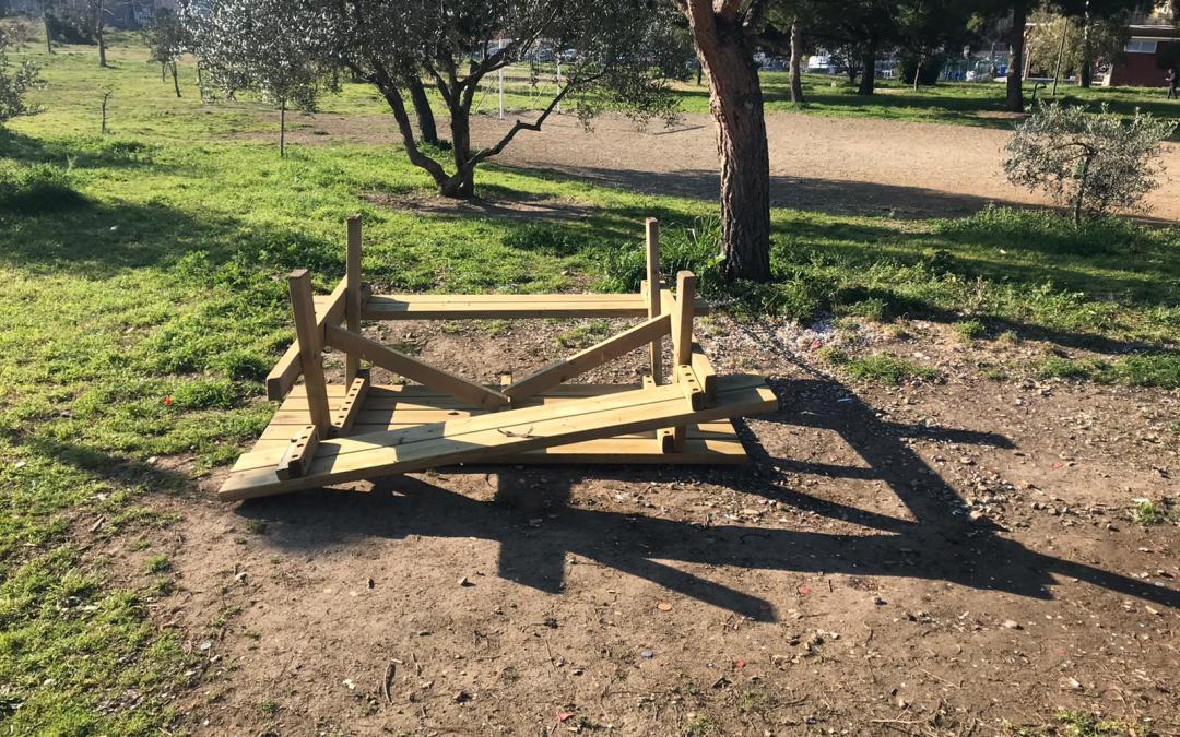 Atti vandalici al Parco Garbatella