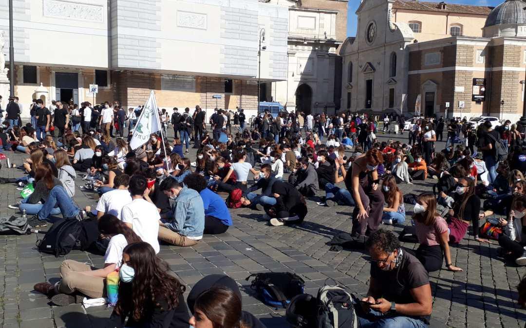 9 ottobre 2020 Fridays for Future a Piazza del Popolo