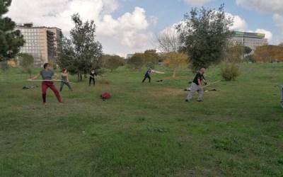 Esercitazione di Aikido al Parco
