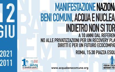 12 Giugno: Manifestazione Nazionale per i Beni Comuni