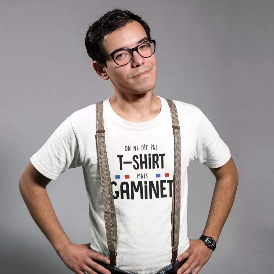 "T-shirt Homme ""On ne dit pas t-shiort mais Gaminet"""