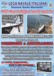 LNI Santa Marinella - ormeggio e ancoraggio