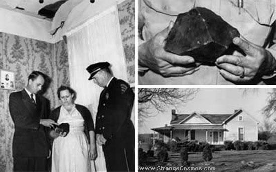 Donna colpita da un meteorite