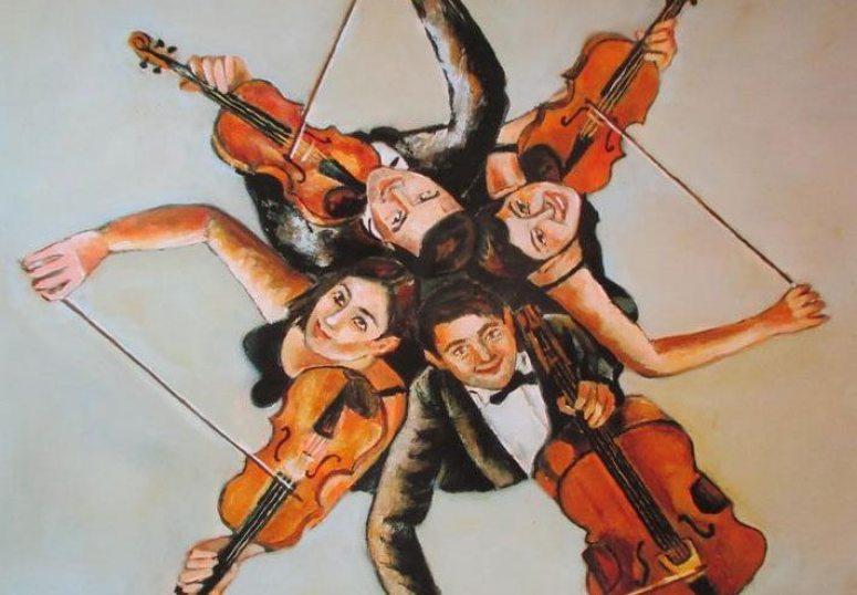 Le quatuor | Peinture par Hubert Siegfried