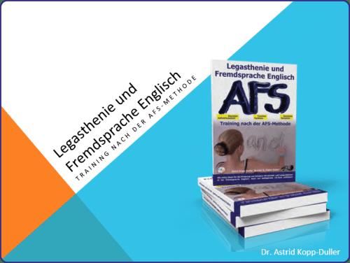Englisch, Legasthenie, AFS-Methode, Fachtagung, Legasthenietrainer, Fremdsprache