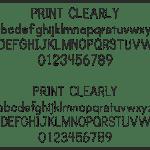 Print Clearly, Font, Schrifart, Legasthenie, Arbeitsblatt, Lehrer, Schule, Eltern, Kinder, Legasthenietrainer, Dyskalkulietrainer