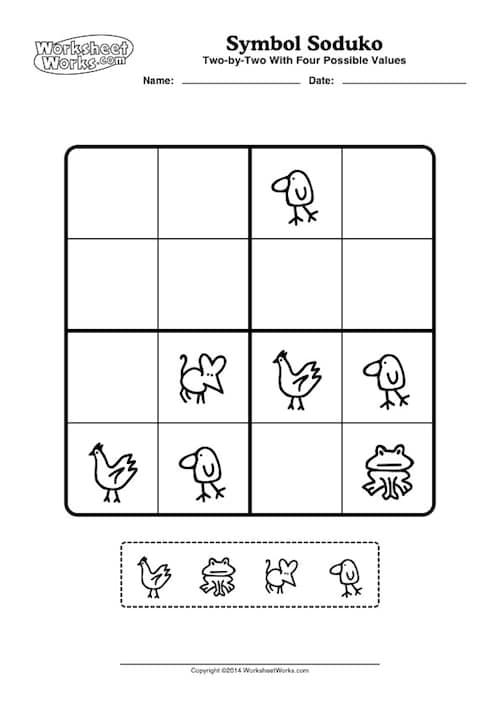 Sudoku, Kinder, Wahrnehmung, visuelle Wahrnehmung, räumliche Wahrnehmung, Bildersudoku, kostenlos, Legasthenie, Dyskalkulie