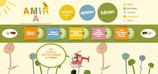 Amira - Leseförderprogramm für Leseanfänger, lesen, Legasthenie, Legasthenietraining, kostenlos, online