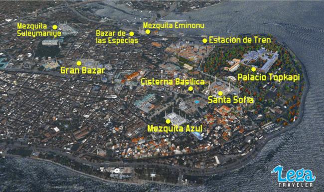 mapa estambul sultanahmet