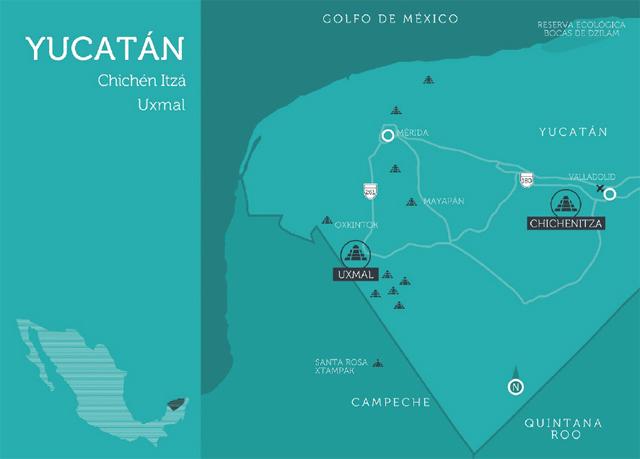mapa yucatán