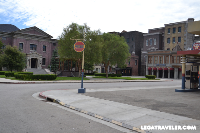 La plaza de Hill Valley, Backt to the Future