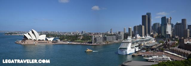 opera house desde harbour bridge sydney