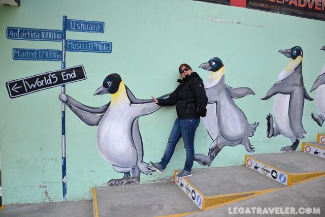 pinguinos graffiti ushuaia
