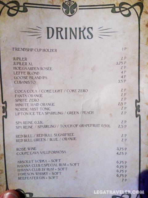 precios-bebidas-tomorrowland