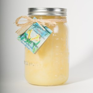 32 Ounce Honeysuckle Haven Scented Mason Jar Candle