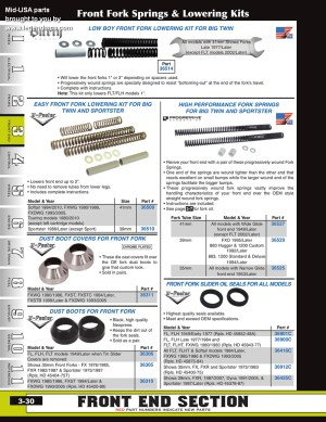 Discount Fork Seals and Dust Covers from MidUSA for Harley Davidson