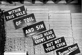 burma shave signs