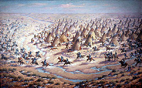 Painting of the Sand Creek Massacre, Colorado Historical Society