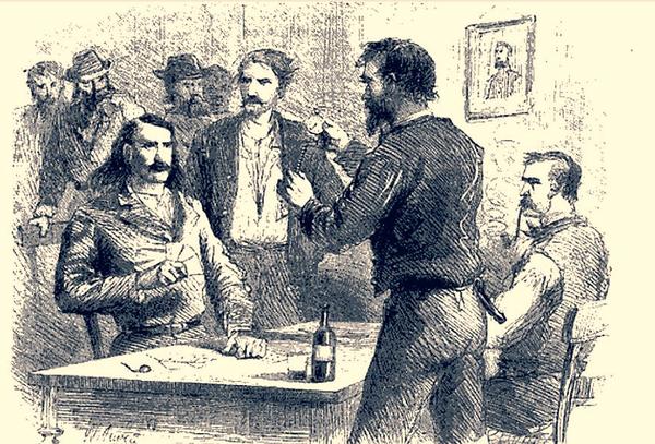 Resultado de imagen para Harper's Magazine en 1867 Wild Bill Hickok