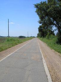 Nine foot wide road between Miami and Afton, Oklahoma. Kathy Weiser-Alexander