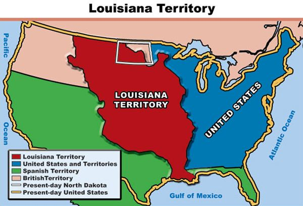 Lewis And Clark Louisiana Purchase Map