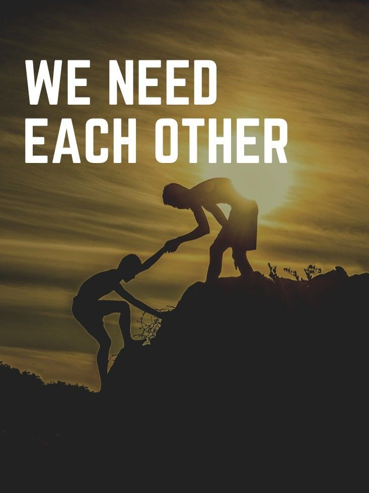 WE NEED EACH OTHER TO SURVIVE BY ELIZABETH DESTINY TIMOTHY