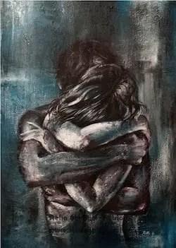 Stella Gentilini - Abbraccio nel blu