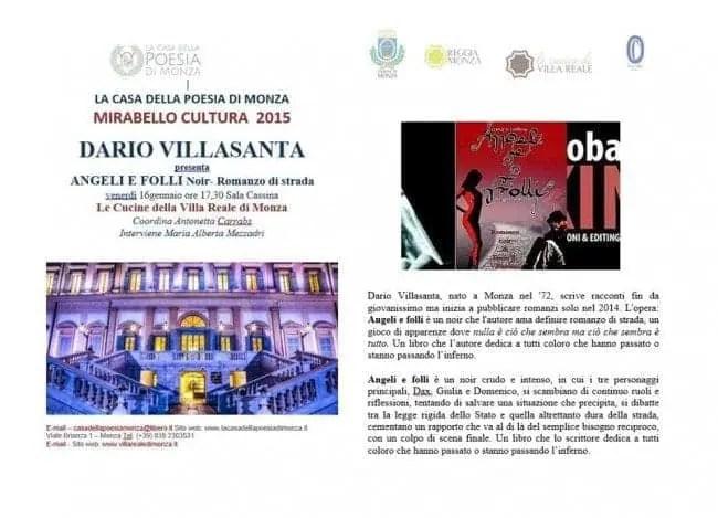 locandina-presentazione-e1420826387318 Monza: Villa Reale in noir Eventi