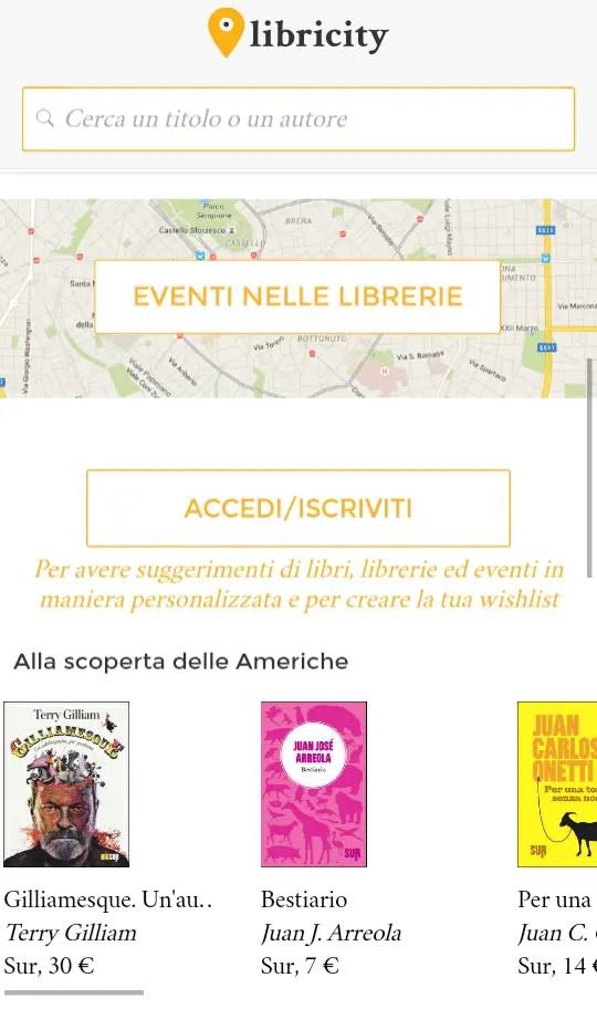 Libricity per cercare un libro nella libreria più vicina