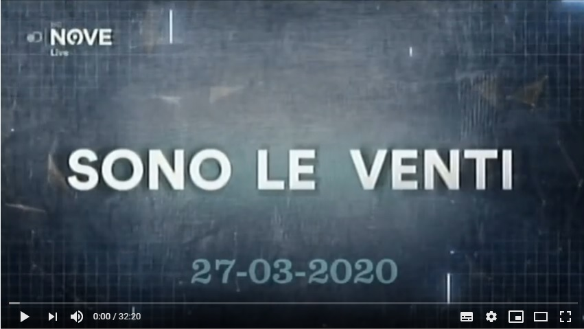 Rivedi Sono le Venti del 27 03 2020 – YouTube