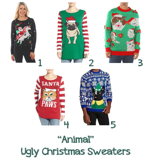 Animal Ugly Christmas Sweaters