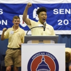 Alabama Nationalist Darius Thomas speaks during the election process for 2017 American Legion Boys Nation president on Tuesday, July 25, 2017. Photo by Clay Lomneth / The American Legion.