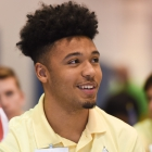 Alabama Nationalist Darius Thomas waits anxiously during the election process for 2017 American Legion Boys Nation president on Tuesday, July 25, 2017. Photo by Clay Lomneth / The American Legion.