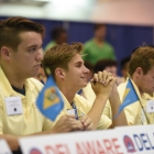 Florida Federalist Austin Barclay waits anxiously during the election process for 2017 American Legion Boys Nation president on Tuesday, July 25, 2017. Photo by Clay Lomneth / The American Legion.