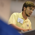 Tennessee Federalist Jayson Blackburn speaks during the American Legion Boys Nation vice-presidential debates on Tuesday, July 25, 2017. Photo by Lucas Carter / The American Legion.