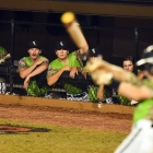 Bryant, Ark., Post 298 watches anxiously during game 12 of The American Legion World Series on Sunday, August 13, 2017 at Veterans Field at Keeter Stadium in Shelby, N.C. Photo by Matt Roth/The American Legion.