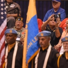 Bill Miller of Lakewood, Calif., Post 496 takes a picture of  the Detachment of California District 12 color guard as they compete in the 2017 American Legion Color Guard Contest, held on Friday, August 18, 2017 at Reno-Sparks Convention Center in Reno, Nev. Photo by Lucas Carter/The American Legion.
