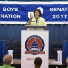 South Carolina Nationalist Decker Paulmeier speaks during the American Legion Boys Nation vice-presidential debates on Tuesday, July 25, 2017. Photo by Lucas Carter / The American Legion.