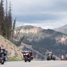 The Legacy Run crosses the Continental Divide at Monarch Pass on Sunday, August 13, 2017. Photo by Clay Lomneth / The American Legion.