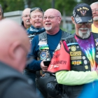 Tony Berenotto, Alabama Department Adjutant, jokes during a Riders meeting on Tuesday, August 15, 2017 in Richfield, Utah. Photo by Clay Lomneth / The American Legion.